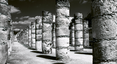 Ruins at Chichen Itza, 1999
